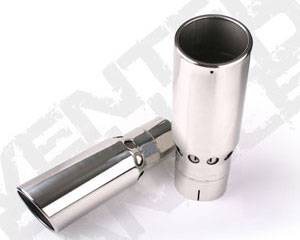 "Diamond Eye - 4"" x 5"" x 16"" Vented Rolled Angle Exhaust Tip"