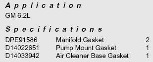 Interstate-McBee - 6.2L Pump Installation Kit