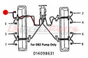 1982 - 1996 GM 6.2L 6.5L (Mechanical) - Fuel Injection Lines - 89-96 Chevy GMC 6.2L 6.5L - Dipaco - #1 Fuel Injection Line 6.2L 6.5L Mechanical