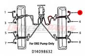 1982 - 1996 GM 6.2L 6.5L (Mechanical) - Fuel Injection Lines - 89-96 Chevy GMC 6.2L 6.5L - Dipaco - #2 Fuel Injection Line 6.2L 6.5L Mechanical