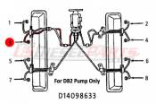 1982 - 1996 GM 6.2L 6.5L (Mechanical) - Fuel Injection Lines - 89-96 Chevy GMC 6.2L 6.5L - Dipaco - #3 Fuel Injection Line 6.2L 6.5L Mechanical