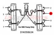1982 - 1996 GM 6.2L 6.5L (Mechanical) - Fuel Injection Lines - 89-96 Chevy GMC 6.2L 6.5L - Dipaco - #4 Fuel Injection Line 6.2L 6.5L Mechanical
