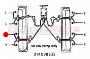 1982 - 1996 GM 6.2L 6.5L (Mechanical) - Fuel Injection Lines - 89-96 Chevy GMC 6.2L 6.5L - Dipaco - #5 Fuel Injection Line 6.2L 6.5L Mechanical