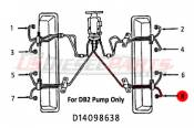 1982 - 1996 GM 6.2L 6.5L (Mechanical) - Fuel Injection Lines - 89-96 Chevy GMC 6.2L 6.5L - Dipaco - #8 Fuel Injection Line 6.2L 6.5L Mechanical