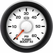 Isspro - GM 6.2L 6.5L IDI  - Isspro EV2 Series - GM 6.2L 6.5L IDI  - Isspro Gauges - Isspro EV2 Boost Gauge 0-60 psi #2 Turbo