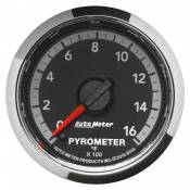 "Auto Meter - Dodge 6.7L - Factory Match - Dodge Gen 4 - Auto Meter Gauges - 2-1/16"" Pyrometer - 0-1600 - FSE - Dodge 4th Gen"