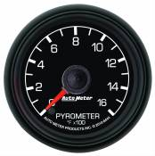 "Ford - 1998 - 2003 7.3L Ford Power Stroke - Auto Meter Gauges - 2-1/16"" Pyrometer Kit - 0-1600 Deg - FSE - FORD"