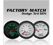 Gauges - 03-07 Dodge 5.9L - Auto Meter - 03-07 Dodge 5.9L - Factory Match 3rd Gen - 03-07 Dodge 5.9L