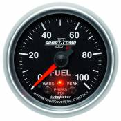 "Auto Meter - 03-07 Ford 6.0L - Sport Comp II - 03-07 Ford 6.0L - Auto Meter Gauges - 2-1/16"" FUEL PRESS 0-100 PSI - FSE - PEAK/WARN"
