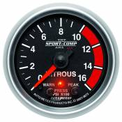 "Auto Meter Gauges - 98-03 Ford 7.3L - Sport Comp II - 98-03 Ford 7.3L - Auto Meter Gauges - 2-1/16"" NITROUS - 0-1600 PSI - FSE - PEAK/WARN"