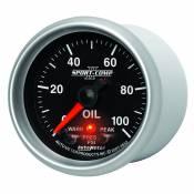 "Auto Meter Gauges - 2-1/16"" OIL PRESS 0-100 PSI - FSE - PEAK/WARN - Image 2"