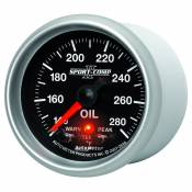"Auto Meter - 03-07 Dodge 5.9L - Sport Comp II - 03-07 Dodge 5.9L - Auto Meter Gauges - 2-1/16"" OIL TEMP - 140-280`F - FSE - PEAK/WARN"
