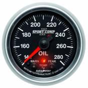 "Auto Meter Gauges - 2-1/16"" OIL TEMP - 140-280`F - FSE - PEAK/WARN - Image 3"