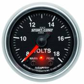 "Dodge - Auto Meter Gauges - 2-1/16"" VOLTMETER 8-18V - FSE - PEAK/WARN"