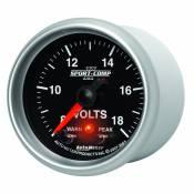 "Auto Meter Gauges - 2-1/16"" VOLTMETER 8-18V - FSE - PEAK/WARN - Image 2"