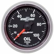 "Auto Meter Gauges - 98-03 Ford 7.3L - Sport Comp II - 98-03 Ford 7.3L - Auto Meter Gauges - 2-1/16"" OIL PRESSURE 0-100 PSI - MECH"