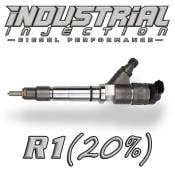 Industrial Injection - Industrial Injection - Industrial Injection - Industrial Injection - Reman R1 100HP 6.6L 2007-2010 LMM Duramax Injector 20% Over