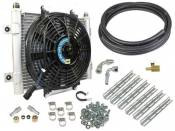 "BD Diesel Power - BD - Xtruded Transmission Oil Cooler with Fan - 1/2"" Tube - Dodge & Ford"