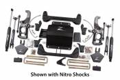 "Chevy / GMC - Zone Offroad Products - 5"" Suspension System - 2011-16 Chevy/GMC 2500HD/3500HD 2WD/4WD with Factory Springs with Rear Top Mounted Overloads"