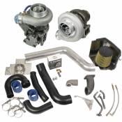 Turbochargers - 98.5-02 Dodge 24V - Performance Turbos - 98.5-02 Dodge 24V - BD Diesel Performance - BD - Super B Twin Turbo Kit w/FMW Billet Wheel on Secondary - Dodge 1998.5-2002 24-valve