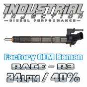 Chevy / GMC - 2011 - 2017 6.6L Duramax LML LGH - Industrial Injection - Factory OEM Remanufactured R3 40% Over 6.6L 2011-2016 LML Duramax Injector 24LPM