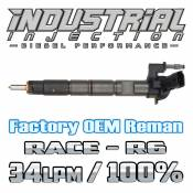 Chevy / GMC - 2011 - 2017 6.6L Duramax LML LGH - Industrial Injection - Factory OEM Remanufactured R6 100% Over 6.6L 2011-2016 LML Duramax Injector 34LPM