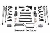 "BDS Suspension - 6"" Suspension Lift Kit with Leaf-Springs (FOX Shocks 4"" Axle) - 2009-2013 Dodge 3/4 & 1 Ton 4WD Diesel"