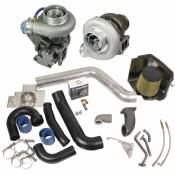 Turbochargers - 94-98 Dodge 5.9L - Performance Turbos - 94-98 Dodge 5.9L - BD Diesel Performance - BD - Super B Twin Turbo Kit w/FMW Billet Wheel on Secondary - 1994-1998 Dodge 12-valve
