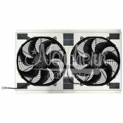 "2001 - 2004 6.6L Duramax LB7 - Engine Components - GM Duramax LB7 - Northern Radiator - Northern Radiator - Dual High CFM 16"" Electric Fan & Shroud - 18 3/4 x 33 7/8 x 4 5/8"