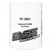 FASS® Products - 03-07 Ford 6.0L - FASS Filters & Accessories - 03-07 Ford 6.0L - FASS Fuel Air Separation Systems - FASS Fuel Systems PF-3001 Particulate Filter