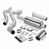 Exhaust Systems - GM Duramax LB7 - Banks - GM Duramax LB7 - Banks Engineering - Banks - Monster Exhaust System Single Exit with Chrome Round Tip  02-05 Chevy 6.6L EC/CCLB