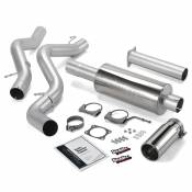 Exhaust Systems - GM Duramax LBZ - Banks - GM Duramax LBZ - Banks Engineering - Banks - Monster Exhaust System Single Exit with Chrome Round Tip   06-07 Chevy 6.6L SCLB