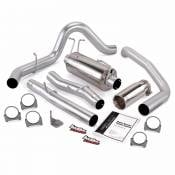 Exhaust Systems - 03-07 Ford 6.0L - Banks - 03-07 Ford 6.0L - Banks Engineering - Banks - Monster Exhaust System Single Exit with Chrome Round Tip   03-07 Ford 6.0L SCLB