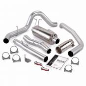 Exhaust Systems - 03-07 Ford 6.0L - Banks - 03-07 Ford 6.0L - Banks Engineering - Banks - Monster Exhaust System Single Exit with Chrome Round Tip   03-07 Ford 6.0L CCSB