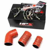 HPS Performance Products - HPS - High Temp Aramid Reinforced Silicone Intercooler Hose Boots Kit - 2006-2010 GM 6.6L