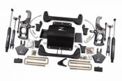 "Lift Kits / Suspension - Chevy / GMC Lift Kits - Zone Offroad Products - 5"" Suspension System - 2011-19 Chevy/GMC 2500HD/3500HD 2WD/4WD with Factory Springs with Rear Top Mounted Overloads"