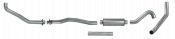 "Diamond Eye - 4"" Aluminized Turbo Back Exhaust - 93-01 6.5L Suburban"
