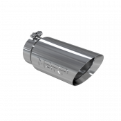 Exhaust Tips - GM Duramax LLY - MBRP Exhaust Tips - MBRP Exhaust - MBRP  - Exhaust Tip - 5 Inch O.D. Dual Wall Angled 4 Inch Inlet 12 Inch Length