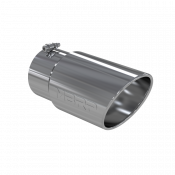 MBRP Exhaust - MBRP  - Exhaust Tip - 6 Inch O.D. Angled Rolled End 5 Inch Inlet 12 Inch Length