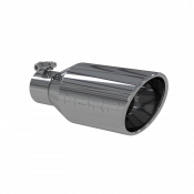 Exhaust Tips - 08-10 Ford 6.4L - MBRP Exhaust Tips - 08-10 Ford 6.4L - MBRP Exhaust - MBRP  - Exhaust Tip - 4.5 Inch O.D. Single Wall Angle Rolled End 2.5 Inch Inlet 11 Inch Length