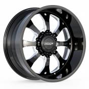 PAYBACK - 22X10.5 8X6.5 -25MM OFFSET - BLACK / MILLED