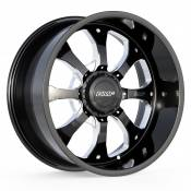 PAYBACK - 22X10.5 DUAL DRILL 6X135 6X5.5 -25MM OFFSET - BLACK / MILLED