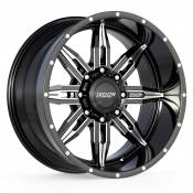 ROULETTE - 22X10.5 8X6.5 -25MM OFFSET - BLACK / MILLED