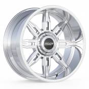 ROULETTE - 22X10.5 DUAL DRILL 6X135 6X5.5 -25MM OFFSET - POLISHED
