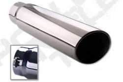 Exhaust Tips - 03-07 Dodge 5.9L - Diamond Eye Exhaust Tips - 03-07 Dodge 5.9L - Rolled Angle - Bolt On - 03-07 Dodge 5.9L