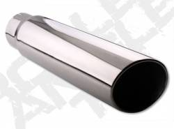 Exhaust Tips - 03-07 Dodge 5.9L - Diamond Eye Exhaust Tips - 03-07 Dodge 5.9L - Rolled Angle - Clamp On - 03-07 Dodge 5.9L