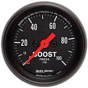 Chevy / GMC - 1993 - 2000 GM 6.5L Turbo Diesel (Electronic) - Auto Meter Gauges - Auto Meter Z-Series Boost Gauge