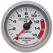 Chevy / GMC - 1993 - 2000 GM 6.5L Turbo Diesel (Electronic) - Auto Meter Gauges - Auto Meter Ultra-Lite II Nitrous 0-1600psi