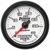 Auto Meter - 08-10 Ford 6.4L - Phantom II Series - 08-10 Ford 6.4L - Auto Meter Gauges - Auto Meter Phantom II Boost Gauge 35 psi