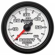 Chevy / GMC - 2001 - 2004 6.6L Duramax LB7 - Auto Meter Gauges - Auto Meter Phantom II Boost Gauge 60 psi